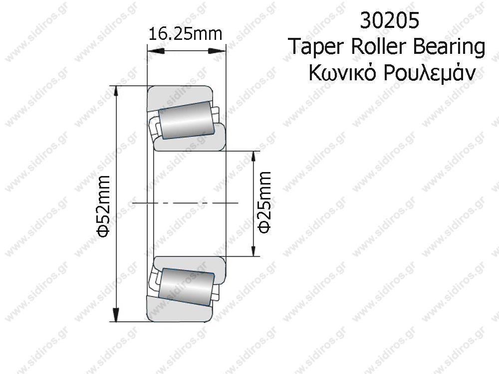 TAPER ROLLER BEARING 30205 NSK